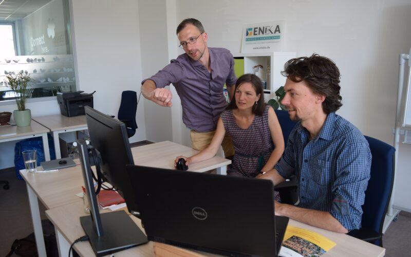 Tobias Lerche Netzwerker Ideenkatalysator Manager Magdalena Arbeiter Geodatenverarbeitung Anwendungsentwicklung Axel Wegener Geodatenbanken Programmierung Datenmengen Darstellung Ergebnisse