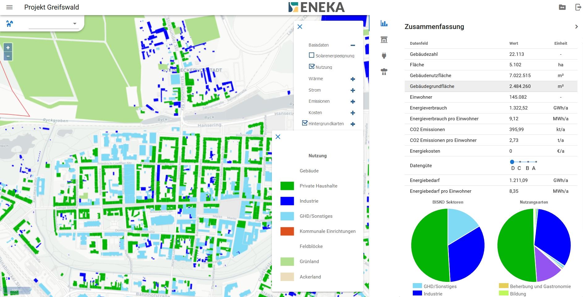 Greifswald Karte Energie Nutzungsarten