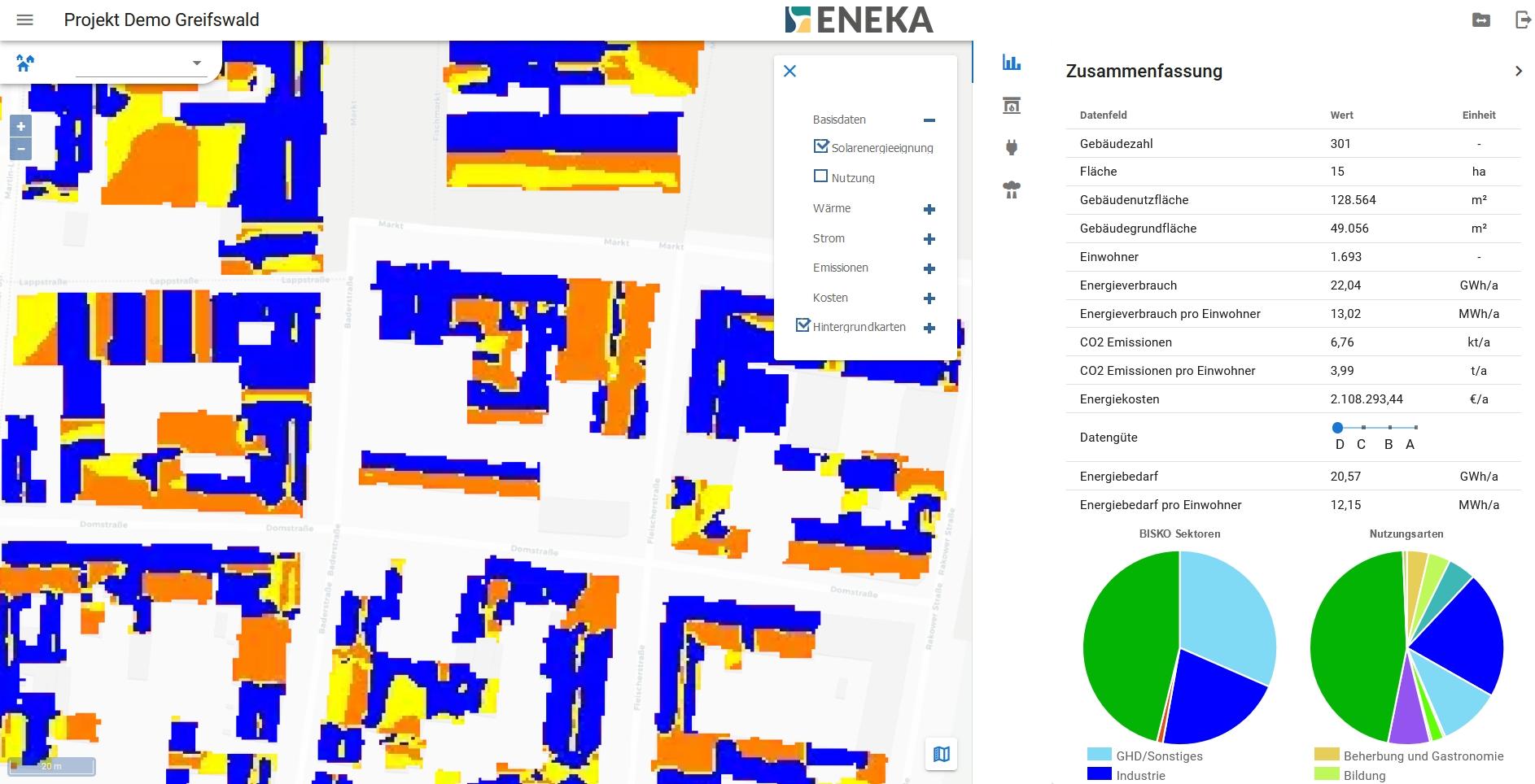 Greifswald Karte Energie Solar Potential